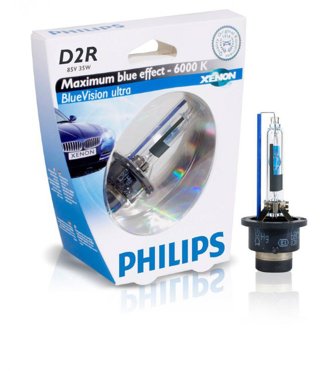 Philips Xenon D2R BlueVision ultra