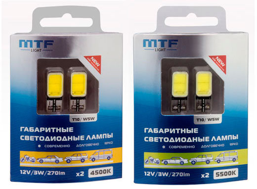 MTF Light LED COB W5W 12B