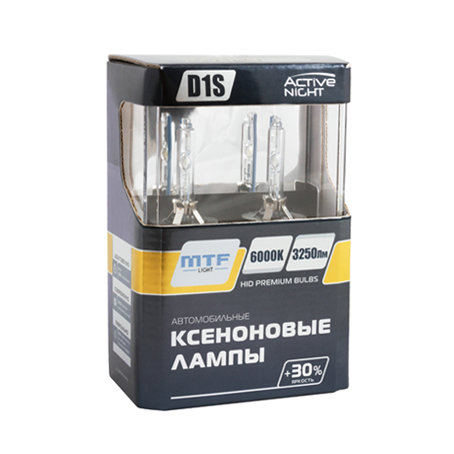 MTF Light Xenon ACTIVE NIGHT +30% 6000K (комплект)